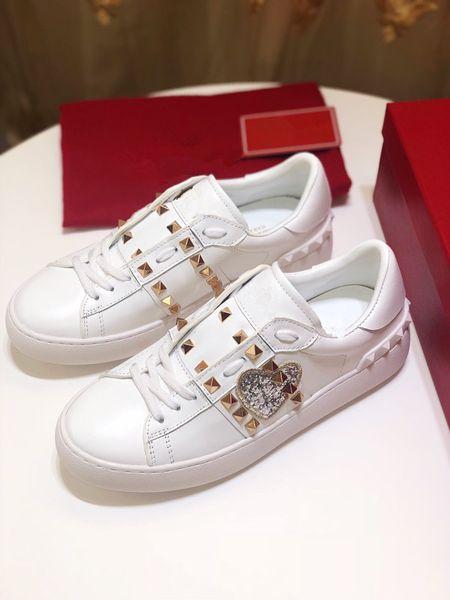 2019 chaud luxe mode graffiti en cuir chaussures de sport dames designer chaussures de sport en cuir à lacets jt190612