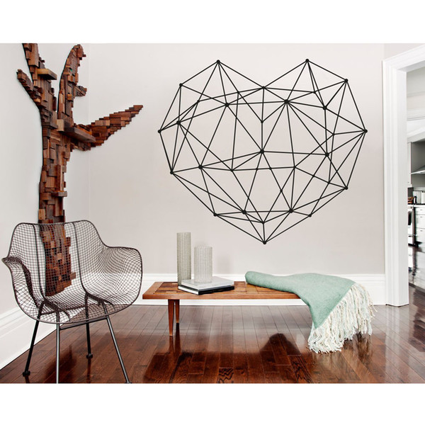 Geometric Decal Heart Vinyl Wall Sticker Home Decor Living Room Abstract  Wall Decals Master Bedroom Headboard Decoration Discount Wall Stickers  Dragon ...