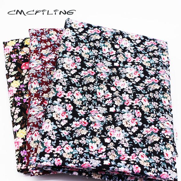 CMCYILING Tessuto di cotone stampato per DIY Quilting cucito tessuto floreale Tissus fiore cuscino materiale per tende
