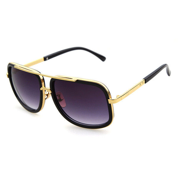 DPZ Brand men's designer Large frame sunglasses Vintage steampunk women sun glasses aviation grandmaster UV400