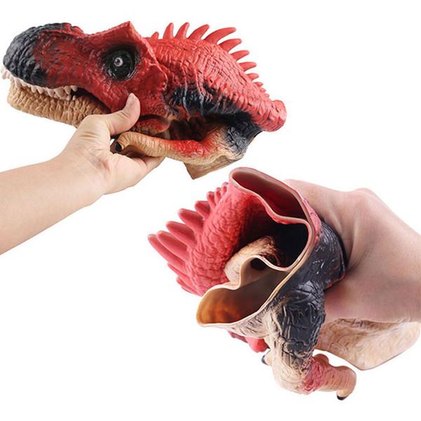 Halloween party gadget Parent - child toy interaction toys Tyrannosaurus model simulation plastic dinosaur hand puppet toys