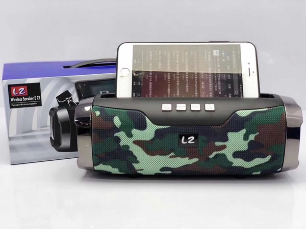 L2-E22 Bluetooth speaker Portable card subwoofer mobile bracket outdoor strap type Bluetooth audio Shower Waterproof For smartphone