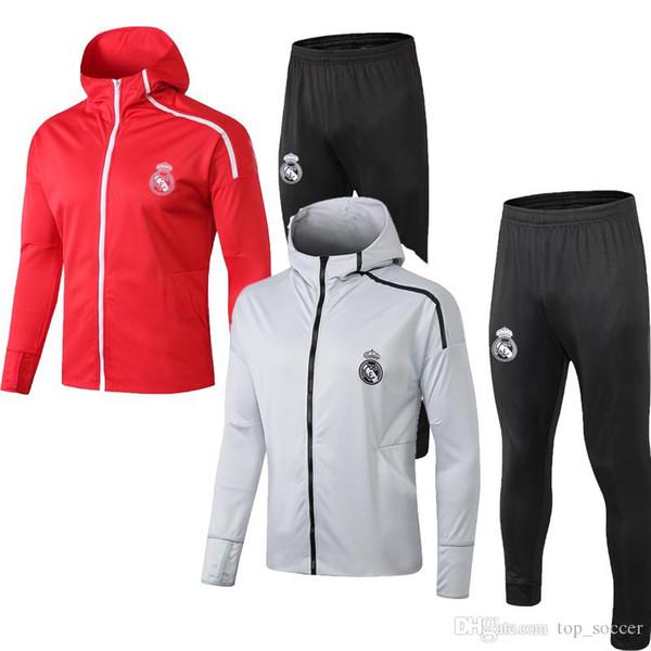 2018 2019 Real Madrid Hoodies Jacke Kits Trainingsanzug MARIANO MODRIC BALE Chandal Trainingsanzüge Maillot de foot Survêtement Uniformen Sets
