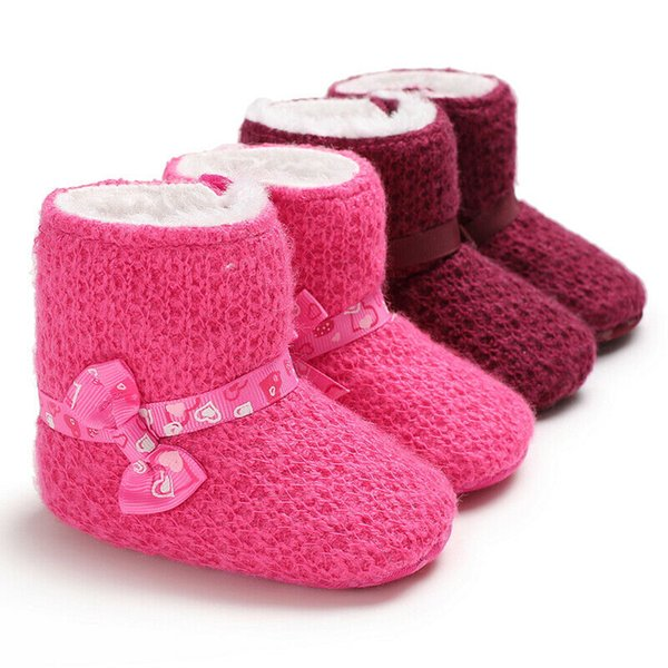 Infant  Boy Girl Winter Warm Snow Boots Toddler Baby Soft Sole Crib Cotton Shoes