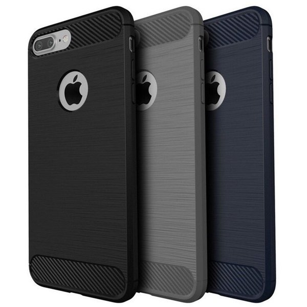 Carbon Fiber Brushed Phone Case For iPhone XS MAX XR X Case Silicone Back Cover For iPhone 7 8 6 6s Plus 5 5s SE Protective Case