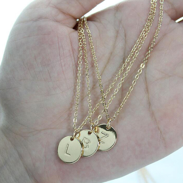 OR 26 Lettre Colliers Alphabet Initial Shell collier pendentif Lady Collier DY