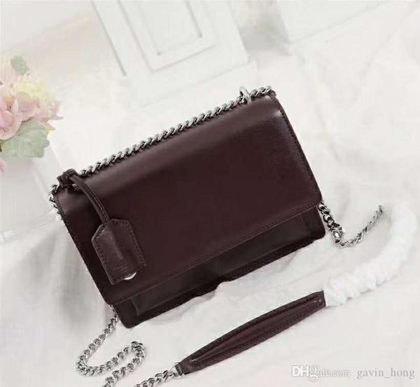 Moda 22 cm Das Senhoras Saco De Couro Das Mulheres Bolsa Marca Lady Saco de Alta Qualidade Real Genuíno Couro Bolsa de Ombro totes