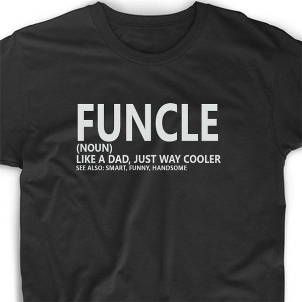 dd864b9b Discount 100% Cotton T Shirts Short Sleeve Gift Mens Funcle Definition  Shirts