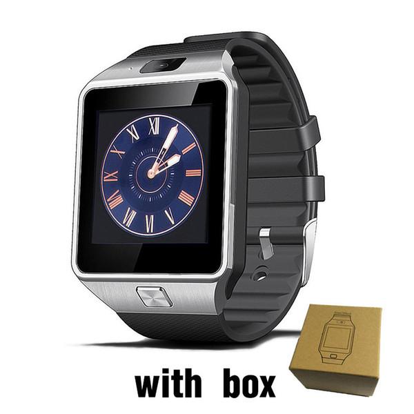 Bluetooth DZ09 Smartwatch Bilek Saatler Dokunmatik Ekran Için iPhone Xs Samsung S8 Android Telefon Perakende Paketi Ile Uyku Monitör Akıllı Izle