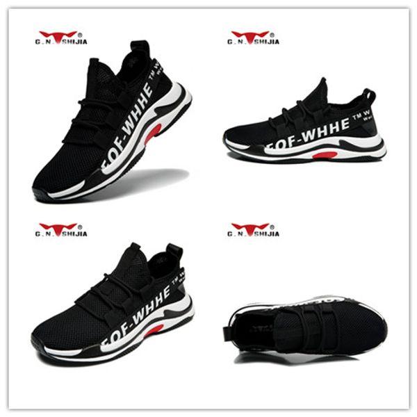 G_N_SHIJIA 888571 koşu ayakkabıları trekking yürüyüş beyaz tırmanma run spor sneakers trainer GNSJ koşu atletik ucuz erkek tasarımcı ayakkabı
