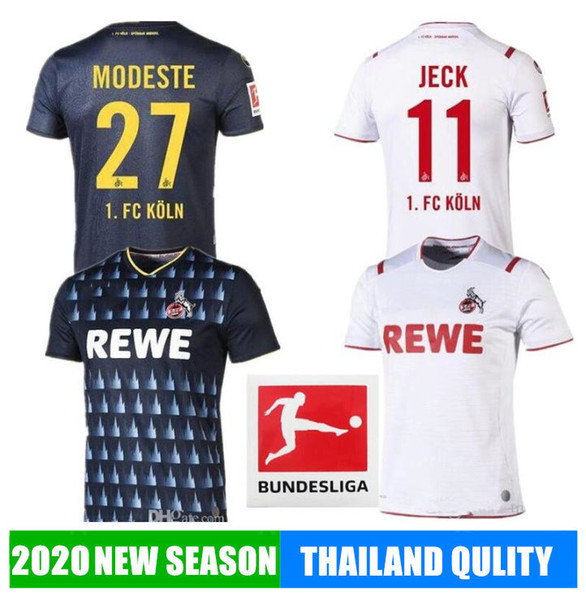 2019 2020 FC Köln Soccer 19 20 Koln TERODDE Cordoba Kainz Accueil tiers blanc Modeste loin Chemises noires de football calcio futbol Maillots