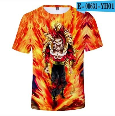 Poresmax Brand Dragon Ball T Shirt 3d T-shirt Anime Men T Shirt Funny T Shirts Hip Hop Japanese Men's Clothes Vintage Clothing Ypf196