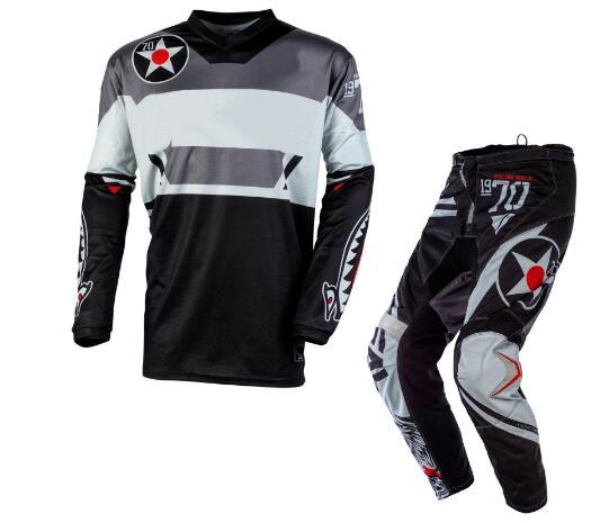 2020 MX Racing Element Warhawk Gray Motocross Off-Road Dirt Bike Gear - Jersey Pants combo set