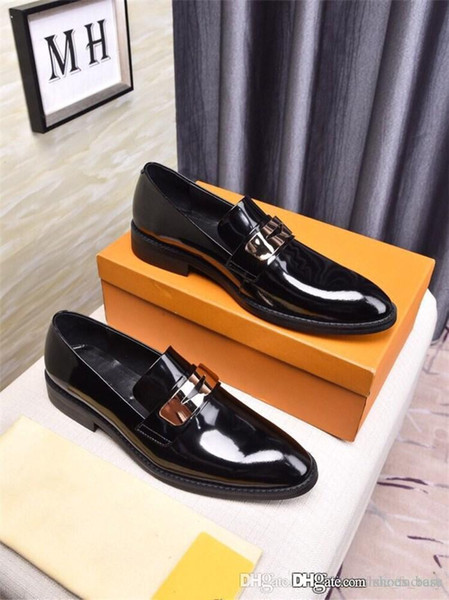 Metal eşleştirme butik erkekler rahat fasulye fasulye ayakkabı Tembel insanlar için loafer'lar Kaymaz aşınmaya dayanıklı siyah sürüş ayakkabı