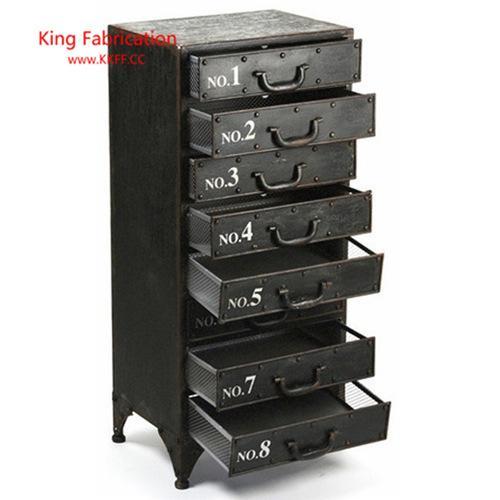 Armoire loft en fer tiroir rétro multifonctionnel décoration armoire de stockage