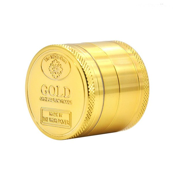 Best Quality Colorful Herb Grinder 4 layer With Metal Material Cheap Pepper Grinders For Dry Herb Smoking Accessories