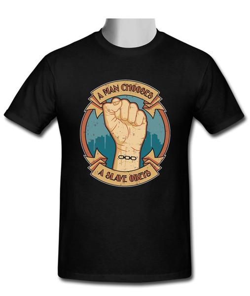 Novo Um Homem Escolhe Um Escravo Obedeia T-shirtFunny frete grátis Unisex top Casual