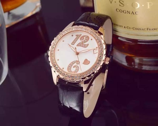 Güzel Yeni Model Moda Lüks Kadın İzle Elmas Ile Özel Tasarım Relojes De Marca Mujer Lady Elbise Kol Kuvars Saat Gül altın