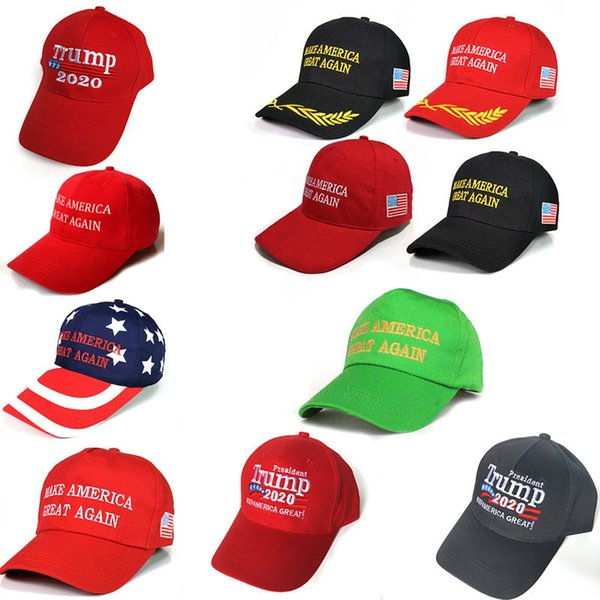 26 Styles Donald Trump Cap Make America Great Again Casquette de baseball Trump 2020 Chapeau En Plein Air Summer Party Chapeaux Adultes Chapeau De Sport AA19169