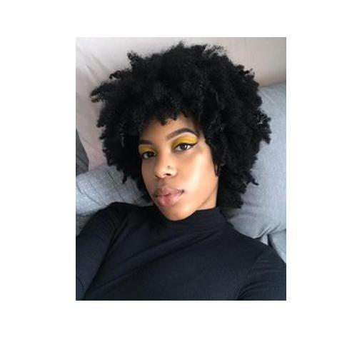 NEUE verworrene lockige Perücke Afrikanische Ameri-Frisur Brasilianische Haar-Simulation menschliches Haar kurze verworrene lockige Perücke
