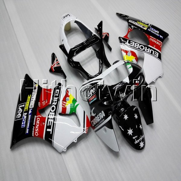 23colors+8Gifts star+white red black ABS Fairing motorcycle cowl for Kawasaki ZX-6R 1998-1999 98 99 Motorcycle panels