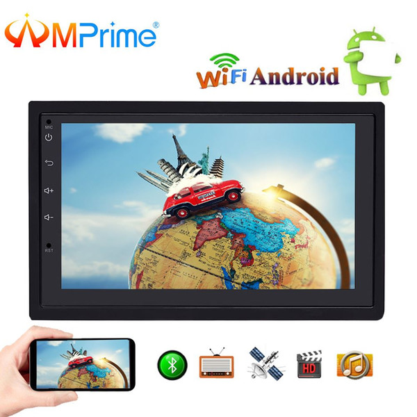 """AMPime 2 Din Car radio Player Android 7"""" LCD GPS Navigation Bluetooth Multimedia Car Audio Touch Screen Media Player For Nissan"""