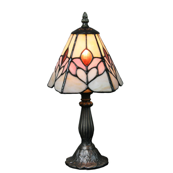 7 inch Small Desk Lamp Flower Mini Table Lamp Leaded Glass Lighting Fixture Stained Glass Bedside Lamp Child Gift