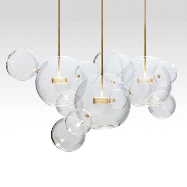 Modern Minimalist LED Pendant Lighting Soap Bubble Glass ball hung lamp living room Bedroom Dining Room