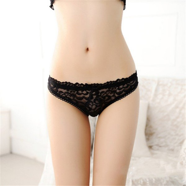 6 Colors Sexy Panties Women See Through Lace Panties Briefs Knickers Plus Size Women Underwear Black Red Pink Lingerie