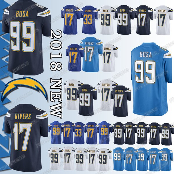 wholesale dealer 7faba 05fc6 2019 Cheap Sales Los Angeles Charger Jersey 33 Derwin James 99 Joey Bosa 17  Philip Rivers Jerseys Adult Shirt Top Quality From Ron_jerseys, $23.5   ...