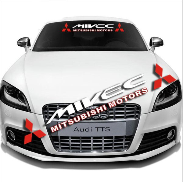 Car Front Rear Windshield Window Banner Vinyl Emblem Decal Auto Exterior Reflective FOR MIVEC Mitsubishi Sticker