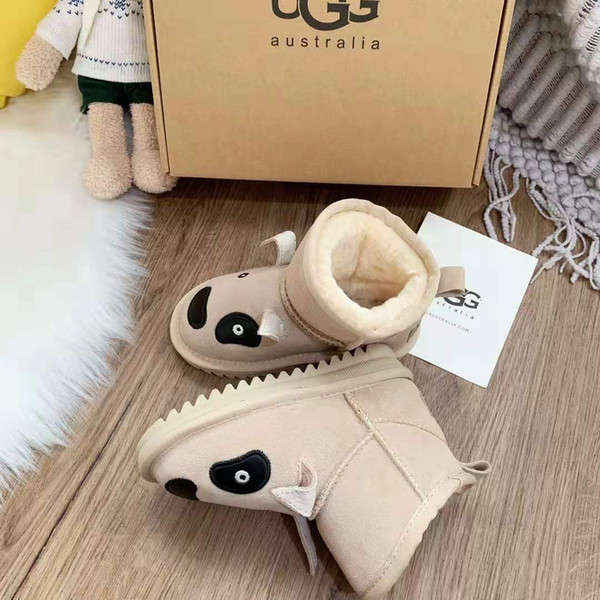 top popular Baby Boots Baby Winter Shoes Cartoon Soft Plush Booties for Infant Girls Boys Anti Slip Snow Boot Keep Warm Kids Crib Shoes Size 25-34 2019
