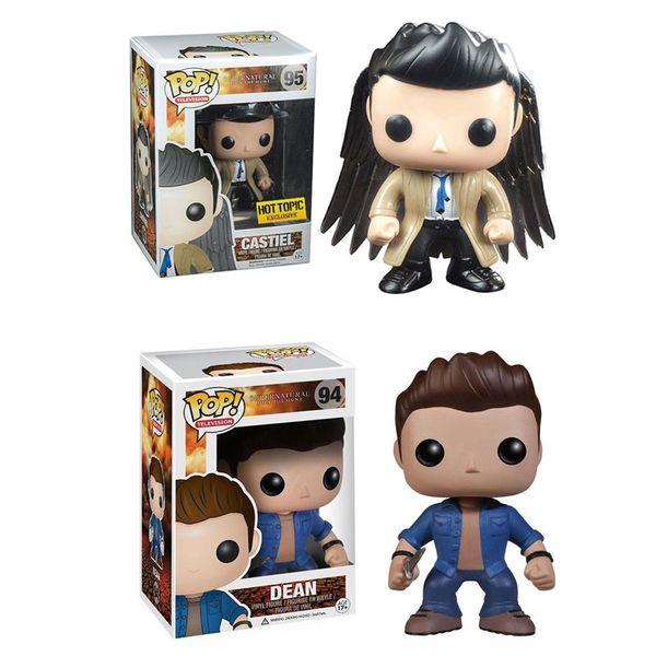 Supernatural Dean Winchester Castiel mit Flügeln Exclusive Vinyl Action-Figur mit ursprünglichem Kasten Große Qualitäts-Versand am selben Tag Funko Pop