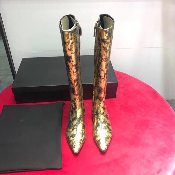 Sra. SOHO DISCO, Diseñador de lujo de botas, Zapatos de piel de oveja de lujo, Marca de botas de moda famosa, Desfile de moda suave de piel de vaca de alto grado