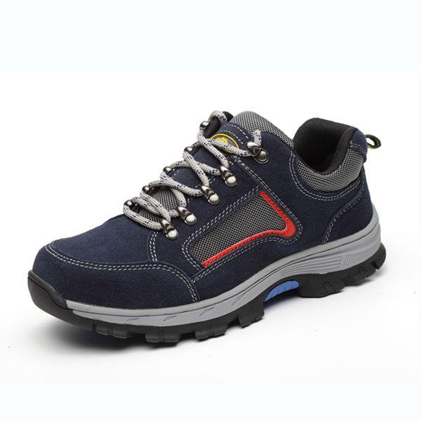 Nouveau 2019 hommes bottes chaussures de sécurité au travail hommes chaussures mode cheville chaussures anti-perforation bottes confortable industriel pour