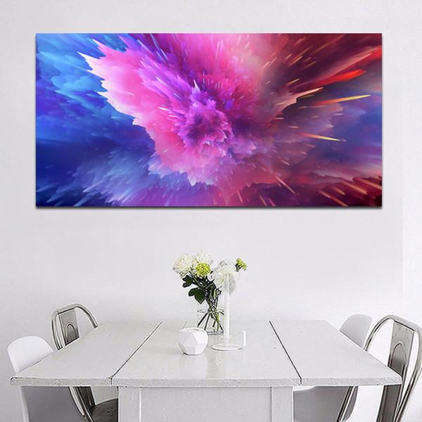 Acheter 1 Panneau Mur Peinture Décorative Pourpre Meteor Douche Abstrait Art Toile Art Print Affiche Pour Le Salon Cuadros Photos No Frame De 27 13