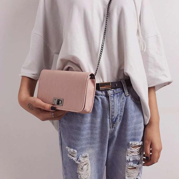 2019 tendance nouvelle version coréenne de la chaîne sauvage petit sac carré sac à bandoulière unique sac à bandoulière Messenger
