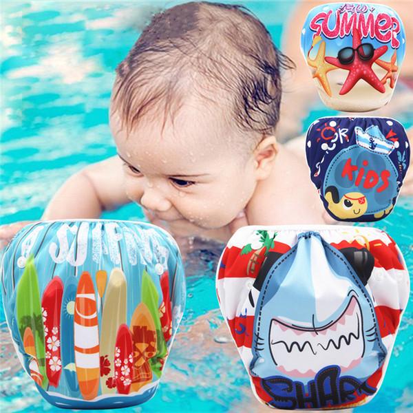 9d92ae751 Bebé ajustable Pañal de natación Pañal reutilizable Pantalones Bebé Niño  niña Traje de baño reutilizable Impermeable