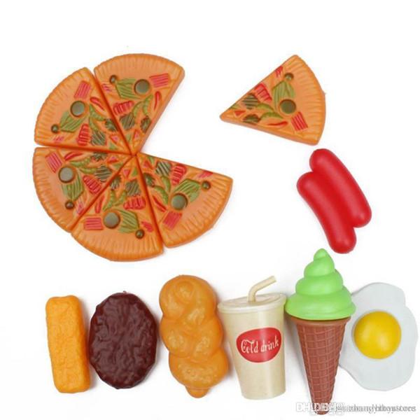hxldoor gros- 13 PCS / Set de cuisine classique Jeux de rôles Jouets Cut Interactive Santé bricolage jouet pour enfants Enfants Favorite Girl Fruits légumes