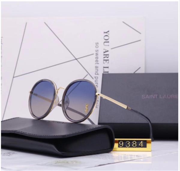 Gafas de sol de lujo para hombres y mujeres gafas de sol de diseñador de moda que polarizan gafas de sol redondas 5 colores modelo 9384