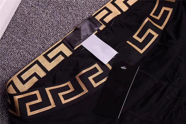FSZ044-7 дышащих мужского Underwears мужских сексуальных шорт BoxerSoft мужских боксеры Письмо Трусы QM03