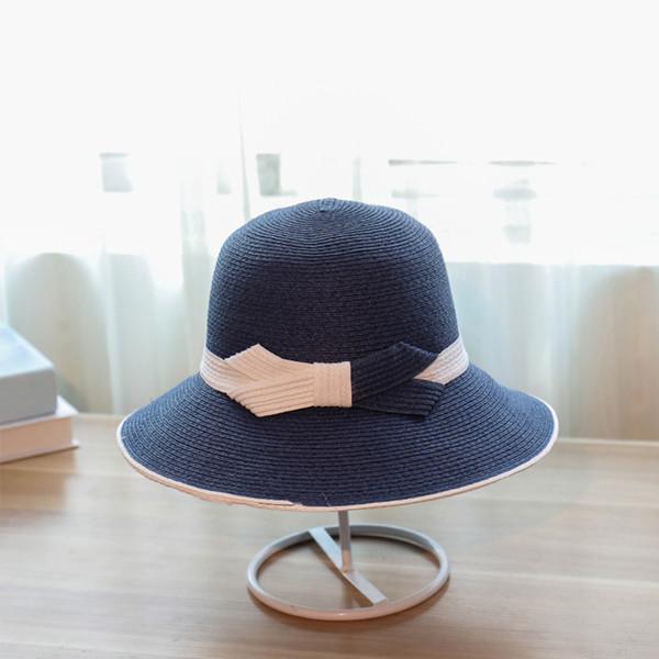 cyclamen9 Eleagance Women's Big Brim Sun Hat Floppy Foldable Bowknot Straw Hat Summer Beach Hat(Black)