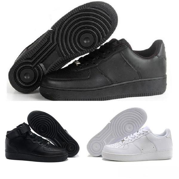 2019 Yeni Kuvvetler Erkekler Kadınlar Low Cut One 1 Rahat Ayakkabılar Beyaz Siyah Dunk Spor Skateboardin moda lüks erkek kadın tasarımcı ayakkabı sandalet