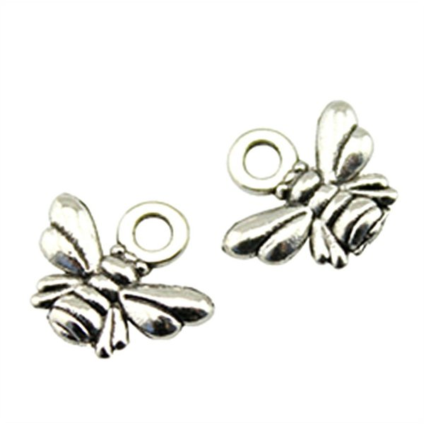 charm 30pcs Charms For Making Small Charms For Jewelry Making Wholesale Jewelry Accessories Honey Bee Charm 11x10mm