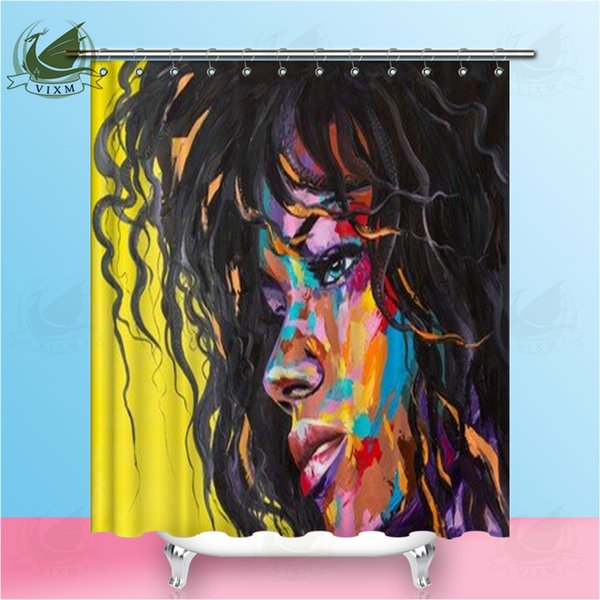Vixm Original Oil Painting Fantasy Woman Shower Curtains Lady Of Classic Car Artist Waterproof Polyester Fabric Curtains For Home Decor