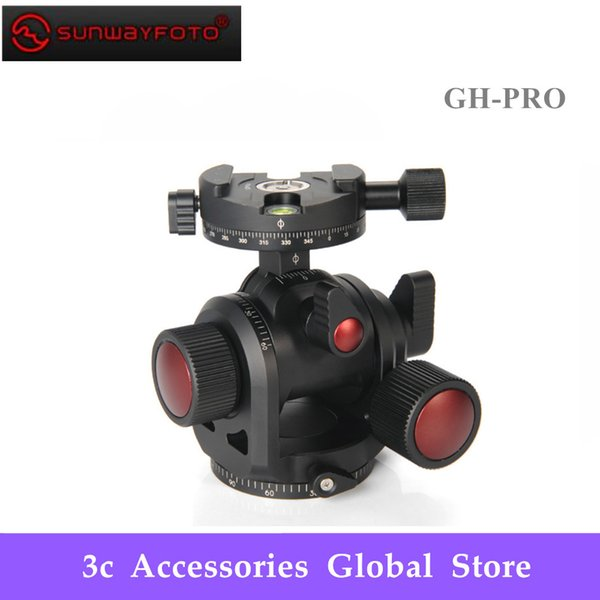 SUNWAYFOTO GH-PRO Free Shipping Geared Head Made for Gitozo Manfrotto Benno Tripod