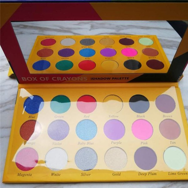 New makeup eye hadow palette box of crayon eye hadow i hadow palette 18 color himmer matte eye hadow palette dhl delivery