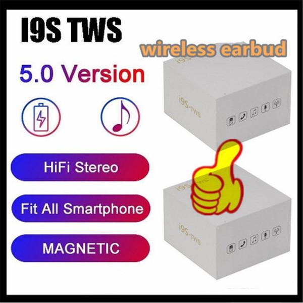 i9s TWS pods Bluetooth sans fil écouteurs air Casques écouteurs protable casque Bluetooth pour iPhone écouteurs 9 Nouveau