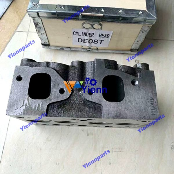 New DE08 engine cylinder head For DOOSAN DAEWOO DE08 DE08T diesel engine rebuild parts with good quality