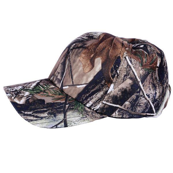 Casquillo al aire libre del camuflaje de las gorras de caza que va de excursión de pesca selva cubierta Senderismo